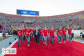 Special Olympics World Summer Games Los Angeles 2015: Die Deutsche Delegation läuft gemeinsam mit Willi Lemke, UN-Sonderbeauftrager, ins Los Angeles Memorial Coliseum ein. (Foto: SOD/Luca Siermann)